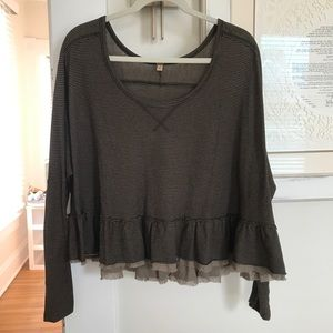 FreePeople slouchy top.